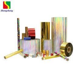 Голографическая лазерный ПЭТ-пленка для ламинирования бумаги 12-25mic толщина