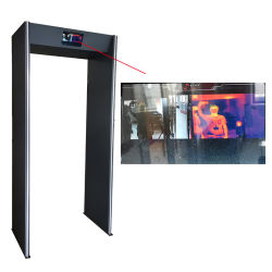 Ai Thermal imaging caminar a través de escáner de la temperatura corporal