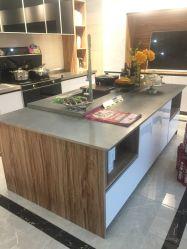 Mobiliário personalizado à prova de água em aço inoxidável armário de cozinha
