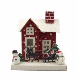 Het Licht van de Decoratie van Kerstmis op het ModelSpeelgoed van het Document van het Huis