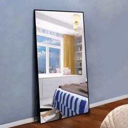 Toda la longitud de la pared de cristal permanente piso vestidor espejo decorativo