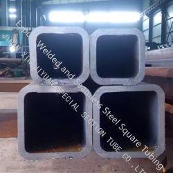 カスタマイズされたQ345Dの長方形のカーテン・ウォールの正方形の管、ヨーロッパ規格の厚い壁の長方形の管、車台のための熱間圧延の先の尖った正方形の管