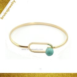 宝石用原石が付いているカスタム豪華な宝石類の卸売の方法合金の宝石類の腕輪