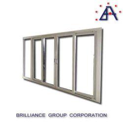 Casa moderna de doble acristalamiento Panel de tres puertas puerta corrediza de vidrio
