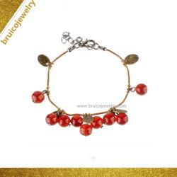 Jóias Vintage Coral Bracelete Cordão com charme pulseira para meninas