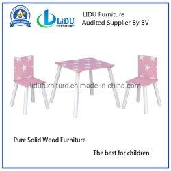 最もよい現代木の執筆子供の調査表の子供の机および椅子