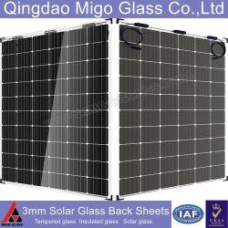 Qingdao Migo 3mm de verre uo-O7 des feuilles de verre solaire arrière