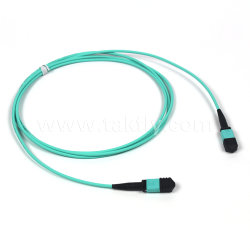 12/24 Core MPO Om3 / Om4 Trunk Cable Fiber Optic Patch Cord