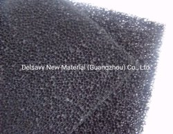 Betätigter Kohlenstoff-retikulierter Schaumgummi 10~60 Ppi Filter-Schaumgummi