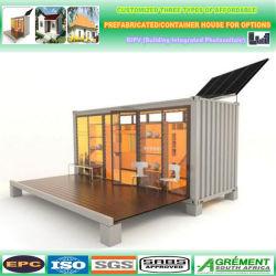 20 pieds Coffee House Restaurant petit maison préfabriquée 40FT préfabriqué de rabattement de la chambre Salle de Studio Combo