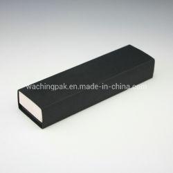黒いベースおよび白いふたのボール紙ペーパー包装ボックス宝石類の箱