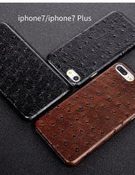 Кожаный крышка черноты Samsung S8 случая iPhone 7 случая телефона