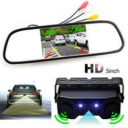 HD 5inch TFT 800X480 voiture Mirror Monitor+Vidéo capteurs radar de stationnement