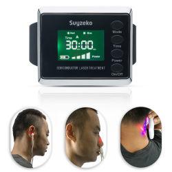 Home gebruik fysieke revalidatie ouderen Zorg Halfgeleider koude lasertherapie Polshorloge voor Hypertensie Diabetes Rhinitis met medische CE