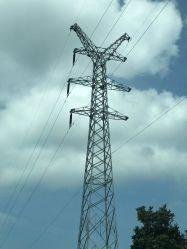 Электрическая передача мощности крайне высокое напряжение угла стальной башни