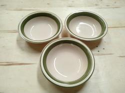 7 Zoll-grüne keramische Steingut-Tonware-handgemalte Farben-Band-Salat-Suppe-Filterglocken