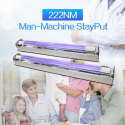 30 واط، مصابيح UltraUV 222 Nm، فيروس الضوء فوق البنفسجي C 222nm Far رقاقة مصباح UVC Far 222nm UV Light