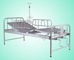 Hospital de acero inoxidable Muebles de cama de cuidados médicos con gira (SLV-B4021S)