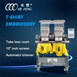 La Chine usine 2 TÊTES Machine à broder vêtement Machine à broder informatisée avec dispositif de Sequin