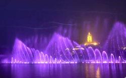 La musique multimédia divers Type d'eau 3D dans le bassin de la fontaine de buse