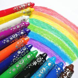 24 Colores Non-Toxic cera cera de la pintura de colores lápices de colores marcadores