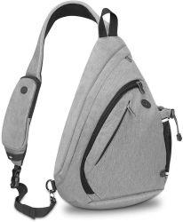 Ombro Crossbody Sling Backpack com suporte para garrafas para Mulheres Homens