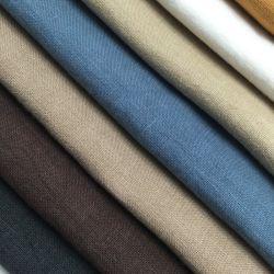 Lavage de sable de teinture de tissus en lin pur pour T-shirt et le vêtement