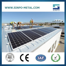 太陽電池パネルシステム太陽製品の太陽電池パネルは太陽錫または金属の屋根のラッキングを立てる