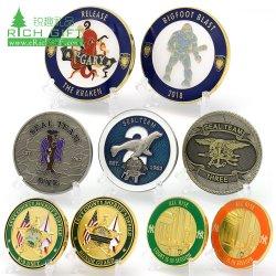 Китай Изготовитель буклетов не минимальные пользовательские металлические предметы антиквариата сувенирный Gold латунные военного флота Silver 3D торжественное задача монеты с логотипом