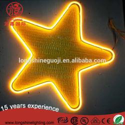 LED Star 6W PVC Motif Neon Flex-lampen met CE RoHS voor kerstdecoratie