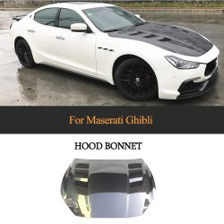 A fibra de carbono do capô do carro da Tampa do Capô para Maserati Ghibli S T4 Sedan 2014 - 2020