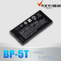 Nokia Lumia 820 배터리 BP-5T 3.7V용 신규 OEM 1650mAh