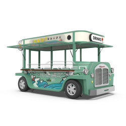 모바일 레스토랑용 고급 갤밴화 스틸 푸드 트럭 아랍 에미리트 연합국 시장을 위한 주방 시설