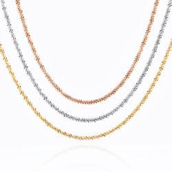[فشيون كّسّوري] [18ك] نوع ذهب [بلتد] عقد [ستينلسّ ستيل] مجوهرات قرنبيط سلسلة