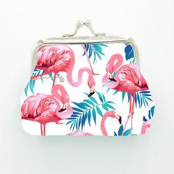 新しい女性の熱帯フラミンゴ小さい袋の硬貨の財布の止め金の札入れのキー袋の方法宝石類袋の札入れ