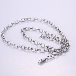 ファッション小物のステンレス鋼の宝石類の宝石類デザインのための楕円形のBelcherケーブルのネックレスの鎖