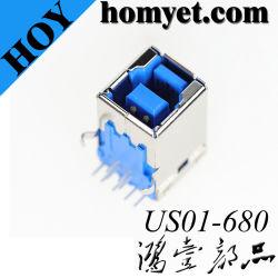 복각 유형 연결관 (US01-680)를 가진 USB B 유형 3.0 Connectory