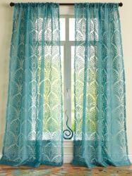Fenster blosser Peapock Knickenten-Polyrayonburnout-blosser Vorhang