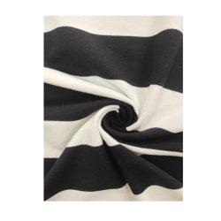 100% algodão orgânico Terry Grande Yarn-Dyed Stripe Anti-Pilling Ciclo para o vestuário de malha