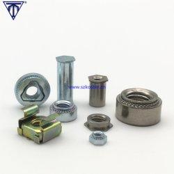 Autoriveur Écrou en acier au carbone, Standoff, aluminium, laiton, acier inoxydable 303 304