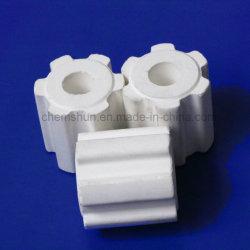 Empaque aleatorio de cerámica de alúmina de alta anillo estriado (Al2O3: 99%)