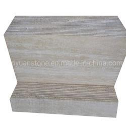 磨かれたTravertineの平板の大理石ベージュ色Travertine