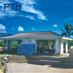 Diseño personalizado para el centro turístico de la pequeña villa de acero