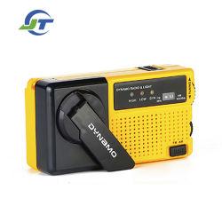 С функцией зарядки Hand-Cranked FM радио Super яркий светодиодный фонарик