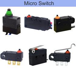 Interrupteur d'alimentation électronique étanche Bouton poussoir à bascule de micro-commutateur miniature à action rapide pour l'automobile des voitures