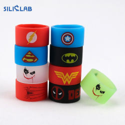 Superman Batman Captain America Flash Vape gravé du logo de la bande de silicone Silicon beauté anneau décoratif