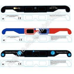 安い価格のカスタムロゴのペーパー3Dガラスの日食ガラス