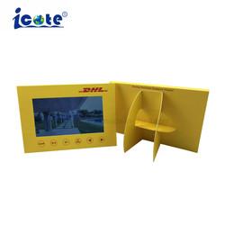 Hot Sale unique forme POS LCD Vidéo Brochure pour la publicité d'affichage