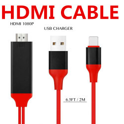 8 pino Digital Relâmpago Adaptador AV para 1080P HDTV/cabo HDMI para iPhone