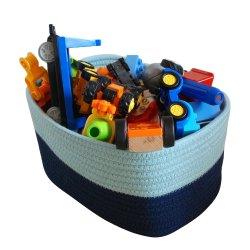 Cuerda de algodón plegable Bin/caja de almacenamiento/ Almacenamiento Cesta para ropa y juguetes